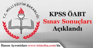 KPSS ÖABT Sınav Sonuçları Açıklandı! ÖSYS 2016 Sorgulama Ekranı