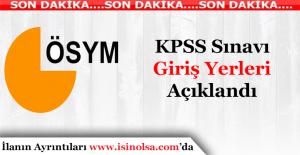 2016 Önlisans KPSS Sınav Yerleri Açıklandı! Sorgulama Ekranı