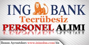 ING Bank 29 Personel Alımı Yapacak