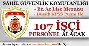 Sahil Güvenlik Komutanlığı 107 İşçi Personel Alımı Yapacak