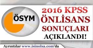2016 KPSS Önlisans Sonuçları Açıklandı! Sorgulama Ekranı