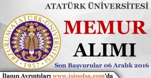 Atatürk Üniversitesi Memur Alımı Yapıyor