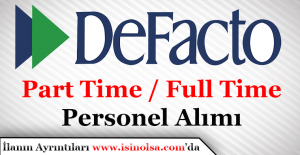 DeFacto Çok Sayıda Personel Alımı Yapıyor