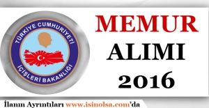 İçişleri Bakanlığı Memur Alımı 2016
