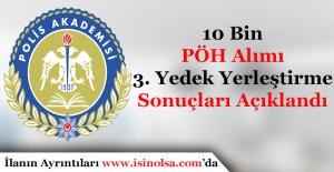 10 Bin Polis Memuru Alımı 3. Yedek Yerleştirme Sonuçları Açıklandı