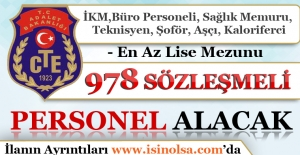 Adalet Bakanlığı CTE 978 Sözleşmeli Personel Alımı