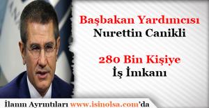 Başbakan Yardımcısı Nurettin Canikli: 280 Bin Kişiye İstihdam Müjdesi