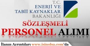 Enerji ve Tabii Kaynaklar Bakanlığı Sözleşmeli Personel Alımı 2016