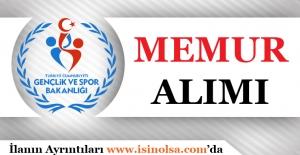 Gençlik ve Spor Bakanlığı 2017 50 Memur Alımı Yapacak