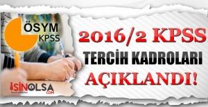 KPSS 2016/2 Merkezi Yerleştirme Memur...