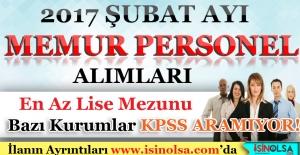 2017 Şubat Ayı Memur Personel Alımı