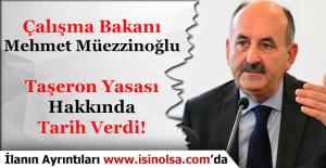 Çalışma Bakanı Mehmet Müezzinoğlu...