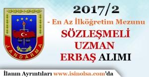 Jandarma Genel Komutanlığı 2017/2 Sözleşmeli Uzman Erbaş Alımı