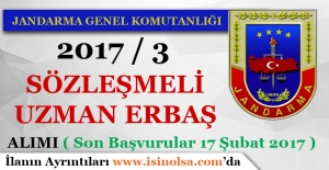 Jandarma Genel Komutanlığı 2017-3 Sözleşmeli Uzman Erbaş Alımı