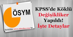 KPSS'de Köklü Değişiklikler Yapılacak! Duyuru Yayımlandı