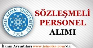 Namık Kemal Üniversitesi Sözleşmeli Personel Alımı