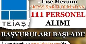 TEİAŞ 111 Teknik Personel Alım Başvuruları Başladı!