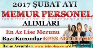 2017 Şubat Ayı Memur Personel Alımları