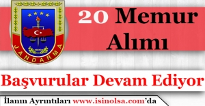 Jandarma Genel Komutanlığı 20 Memur Alıyor