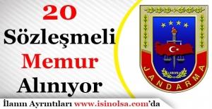 Jandarma Genel Komutanlığı Sözleşmeli 20 Personel Alıyor