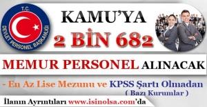 Kamuya 2 Bin 682 Memur Personel Alımı