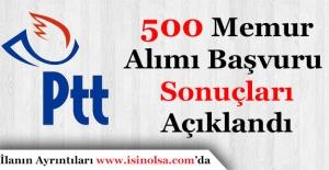 PTT 500 Memur Alımı Başvuru Sonuçları Duyuruldu