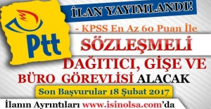 PTT Sözleşmeli Personel Alım İlanı...