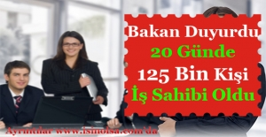 20 Günde 125 Bin Kişi İş Sahibi Oldu