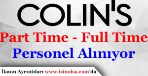 Colin'sPersonel Alımı Başladı! Part Time - Full Time
