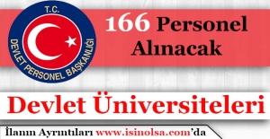Devlet Üniversiteleri 166 Personel Alımı Yapıyor
