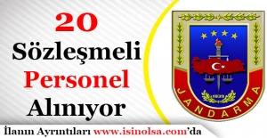 Jandarma Genel Komutanlığı 20 Sözleşmeli Personel Alımı Başvuruları Sürüyor
