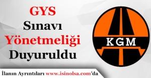 Karayolları Genel Müdürlüğü GYS Yönetmeliği Yayımlandı