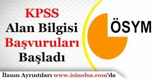 KPSS Alan Bilgisi Başvuruları Başladı! 2017 ÖSYM