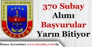 Jandarma 370 Subay Alımı Başvurular Yarın Bitiyor!