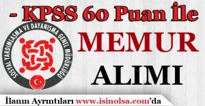 KPSS 60 Puan İle SYDV Personeli Alınıyor