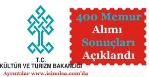 Kültür ve Turizm Bakanlığı 400 Memur Alımı Sonuçları Açıklandı