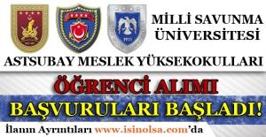 Milli Savunma Üniversitesi Astsubay Meslek Yüksekokulları Öğrenci Alımı Başvurusu Başladı!