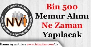 Nüfus Müdürlüklerine Bin 500 Personel Alımı Ne Zaman Yapılacak