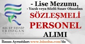 Recep Tayyip Erdoğan Üniversitesi Sözleşmeli Hemşire Alımı