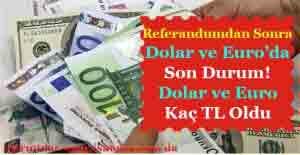 Referandum Sonrası Dolar ve Euro'da Hızlı Düşüş! Dolar ve Euro Kaç TL Oldu