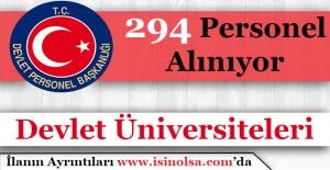 Üniversiteler 294 Personel Alımı Yapıyor!