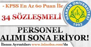 Harran Üniversitesi 34 Personel Alımı Başvuruları Sona Eriyor!