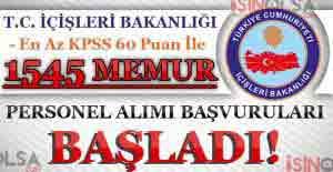 İçişleri Bakanlığı KPSS 60 Puan...