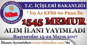 İçişleri Bakanlığı KPSS En Az...