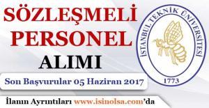 İstanbul Teknik Üniversitesi Sözleşmeli Personel Alımı