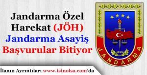Jandarma Özel Harekat (JÖH) ve Asayiş Emniyet Jandarma AlımıBitiyor!