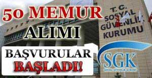 Sosyal Güvenlik Kurumu 50 Memur Alımı Başvuruları Başladı!