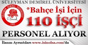 Süleyman Demirel Üniversitesi Geçici 110 İşçi Personel Alımı