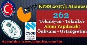 Kamu Kurumları 262 Teknisyen ve Tekniker Alıyor! Ortaöğretim - Önlisans Mezunu