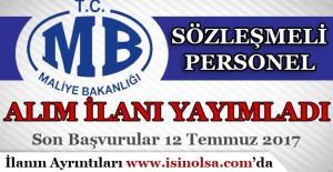 Maliye Bakanlığı KPSS İle Sözleşmeli Personel Alım İlanı Yayımladı!
